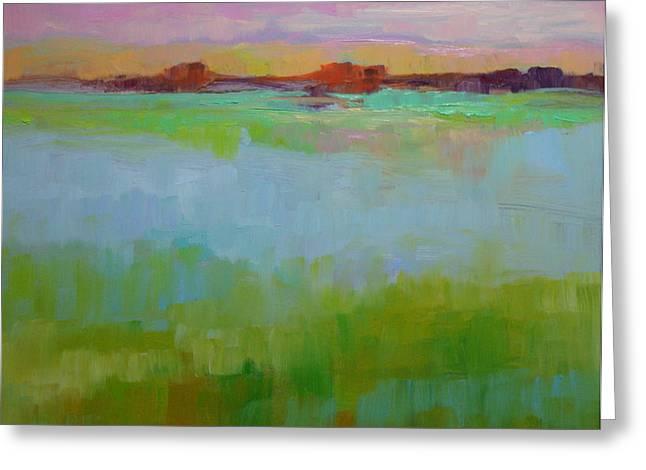 Blue Lagoon Greeting Card by Virginia Dauth