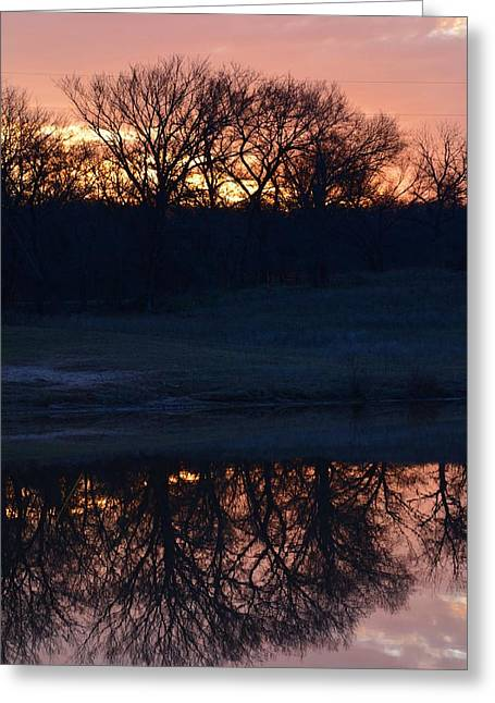 Blue Lake Sunset Xi Greeting Card
