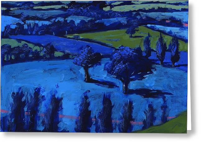 Blue Landscape Greeting Card by Paul Powis