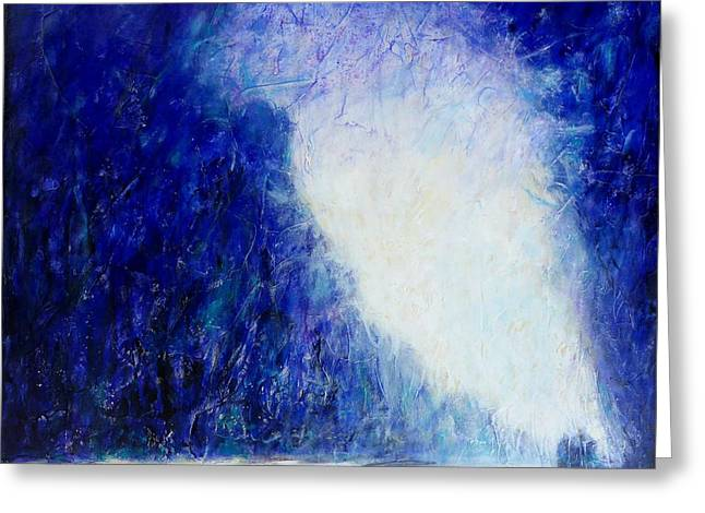 Blue Landscape - Abstract Greeting Card