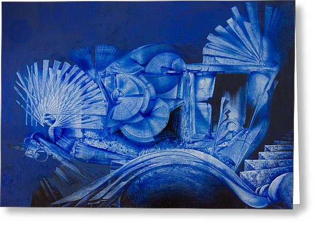 Blue Landscape Greeting Card by Fernando Alvarez