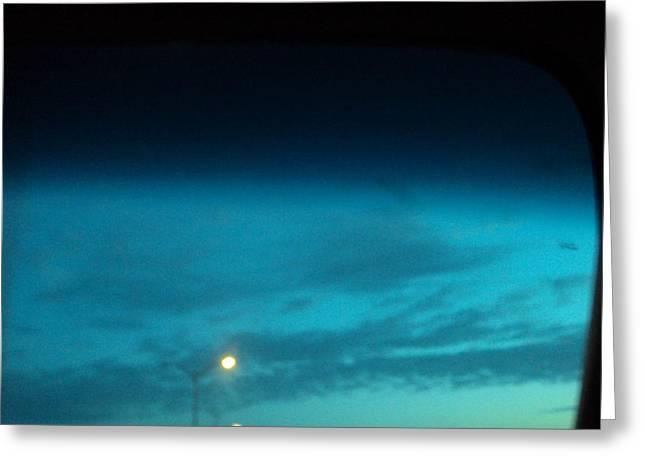 Blue Light Greeting Card by Cynthia Harvey