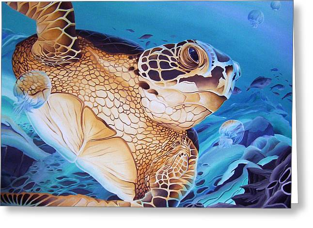 Blue Loggerhead Greeting Card