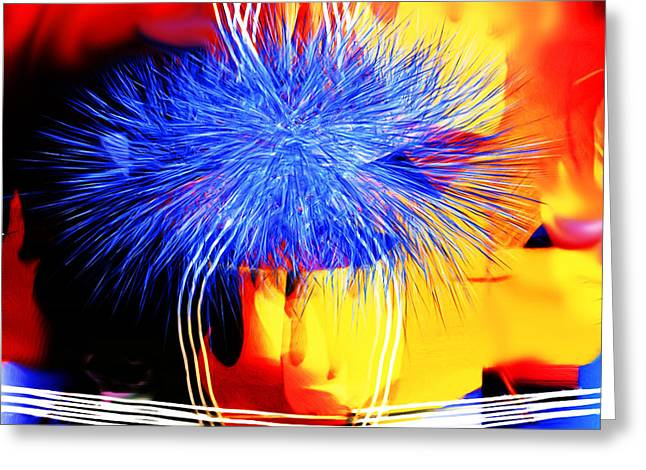 Blue Memories Greeting Card by Hai Pham