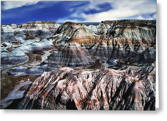 Blue Mesa - Painted Desert Greeting Card by Bob and Nadine Johnston