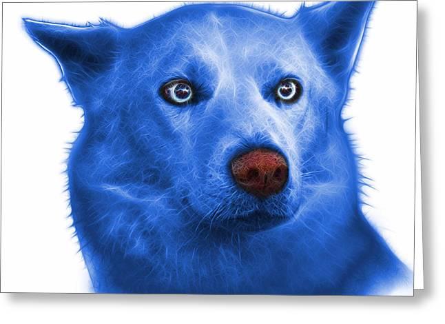 Blue Mila - Siberian Husky - 2103 - Wb  Greeting Card by James Ahn