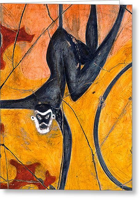 Blue Monkeys No. 9 - Study No. 3 Greeting Card by Steve Bogdanoff