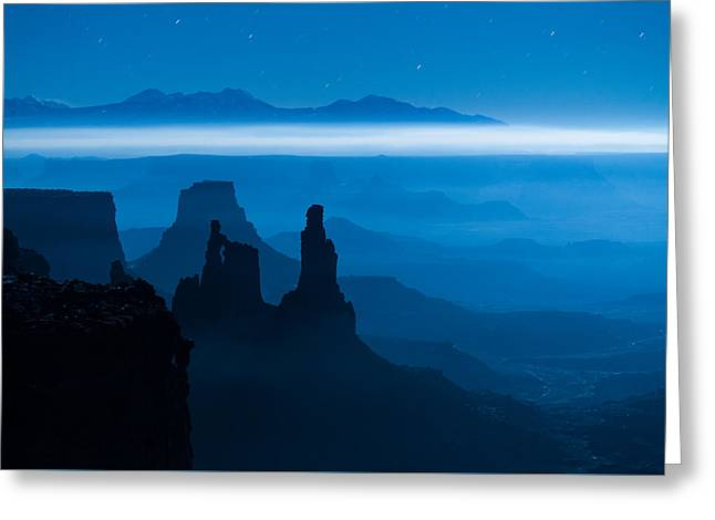 Blue Moon Mesa Greeting Card by Dustin  LeFevre