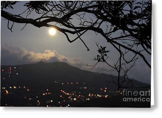 Blue Moon Over El Yunque Greeting Card