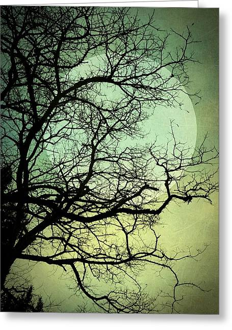 Blue Moon Greeting Card by Patricia Strand