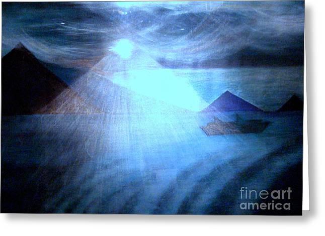 Blue Moon Sailing Greeting Card