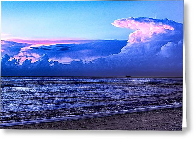 Blue Morning Greeting Card by Don Durfee