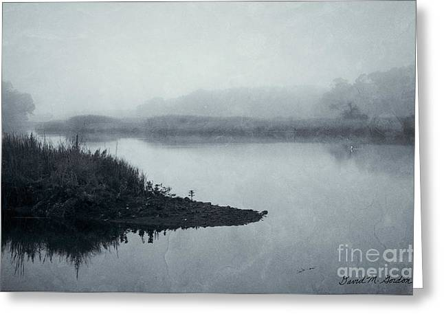Blue Morning Taunton River Greeting Card by Dave Gordon