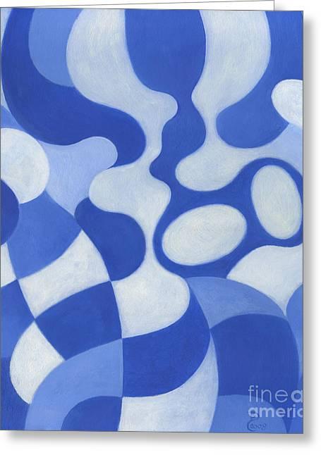 Blue Mosaic Greeting Card