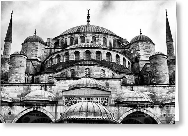 Blue Mosque Greeting Card by John Rizzuto