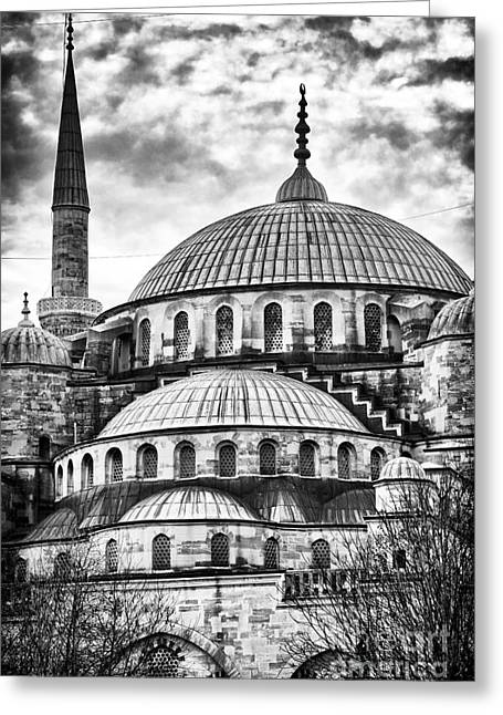 Blue Mosque Majesty Greeting Card by John Rizzuto