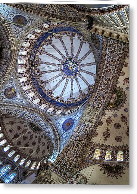Greeting Card featuring the photograph Blue Mosque by Ross Henton