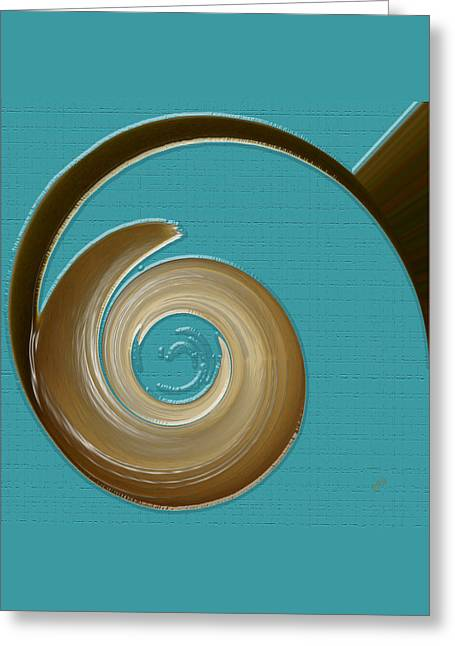 Blue Motion Greeting Card