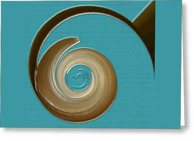 Blue Motion Greeting Card by Ben and Raisa Gertsberg