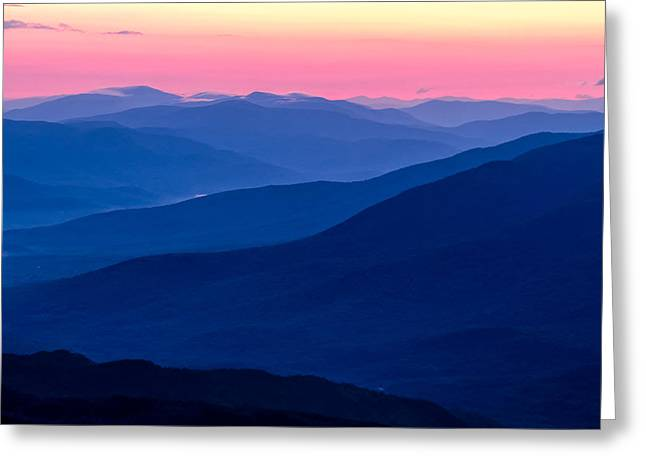 Blue Mountain Layers  Greeting Card by Jeff Sinon