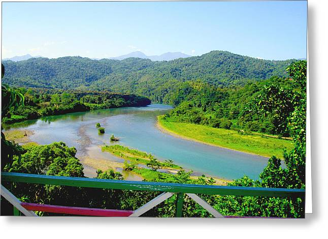 Jamaica blue mountain greeting cards fine art america blue mountains greeting card m4hsunfo