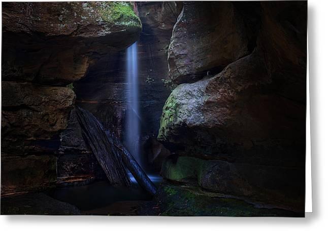Blue Mountains Waterfall Greeting Card by Yan Zhang