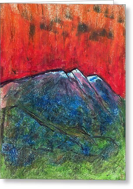 Blue Mountains Greeting Card by Yuri Lushnichenko