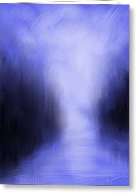 Blue Night Greeting Card by Kume Bryant
