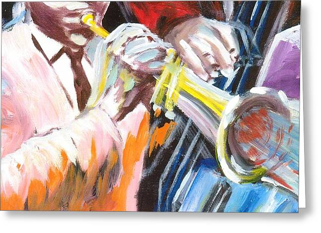 Blue Notes Greeting Card by Jonathan Tyson