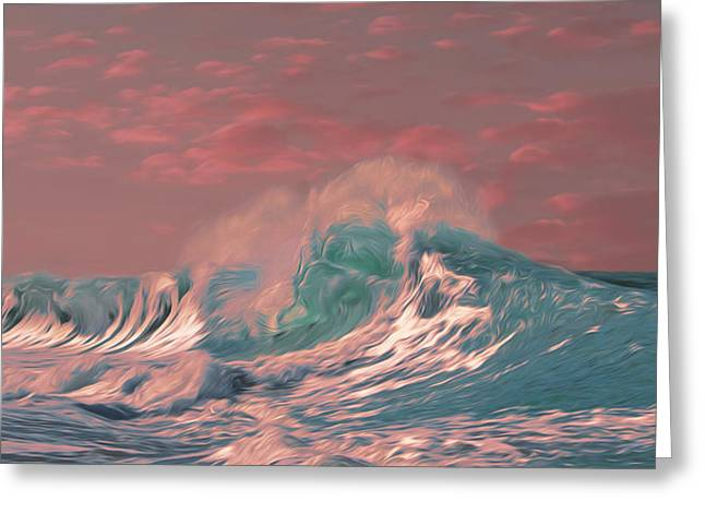 Blue Ocean Wave Greeting Card