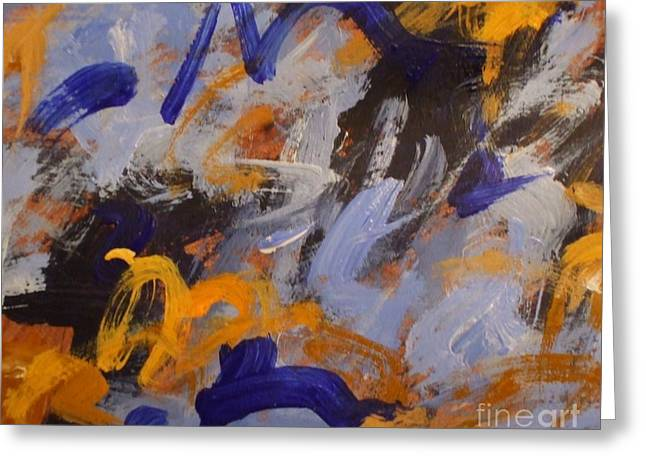 O Give Thanks Unto The Lord - Psalm 107 1a - Abstract Expressionist Painting Greeting Card by Philip Jones