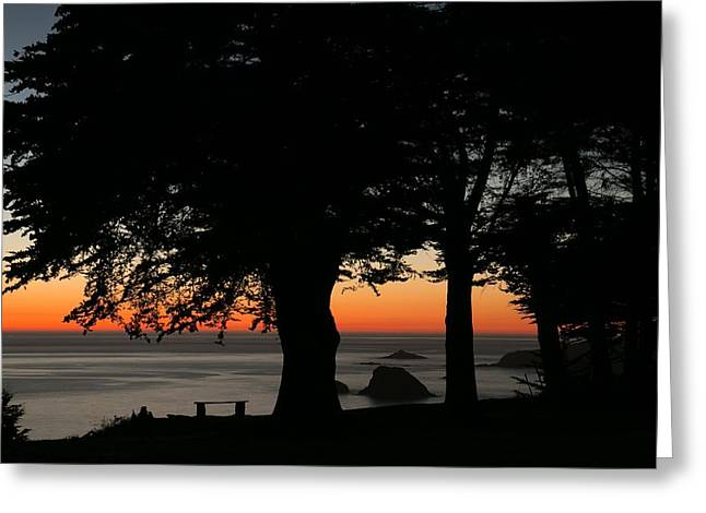 Blue Pacific At Sunset Greeting Card
