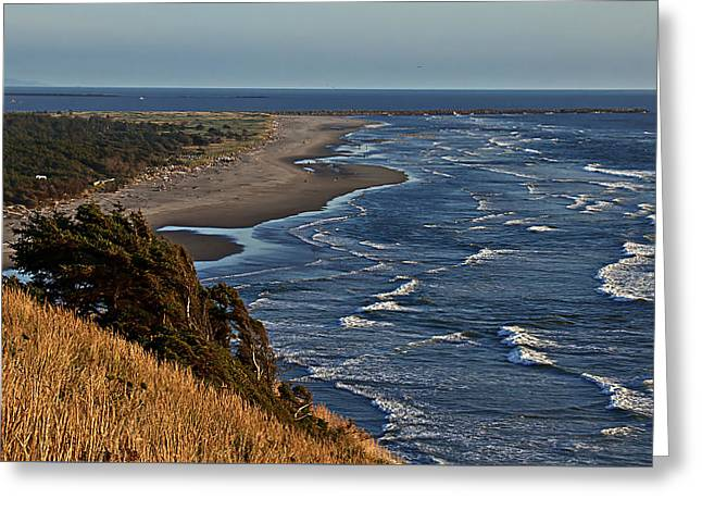 Blue Pacific Greeting Card by Robert Bales