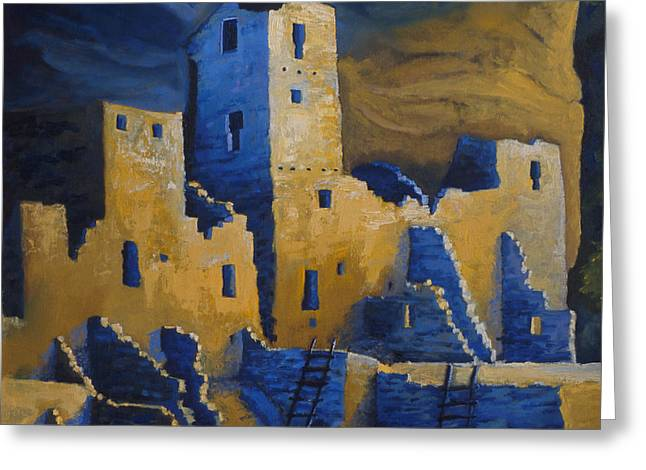 Blue Palace Greeting Card by Jerry McElroy