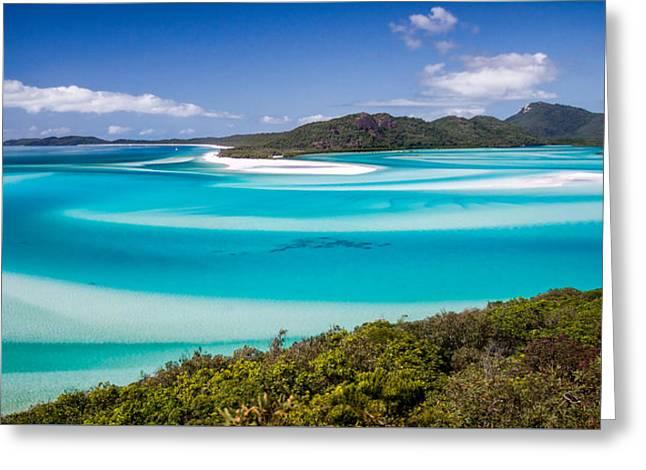 Blue Paradise Whitehaven Beach Whitsunday Island Greeting Card