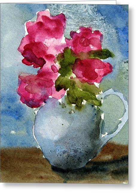Blue Pitcher  Greeting Card by Anne Duke