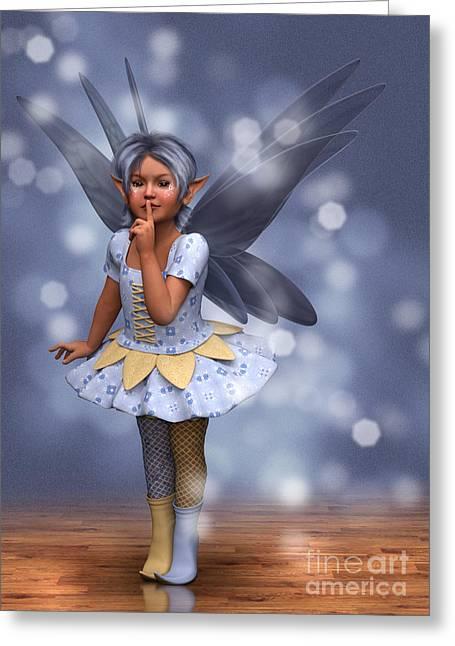 Blue Pixie Greeting Card