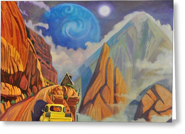 Greeting Card featuring the painting Cliff House by Art James West