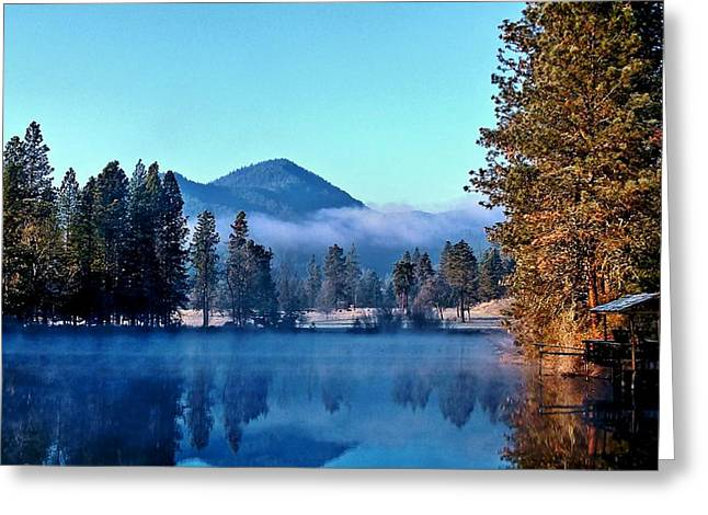 Greeting Card featuring the photograph Blue Pond Sunrise by Julia Hassett