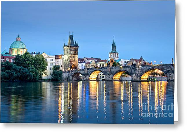 Blue Prague Greeting Card