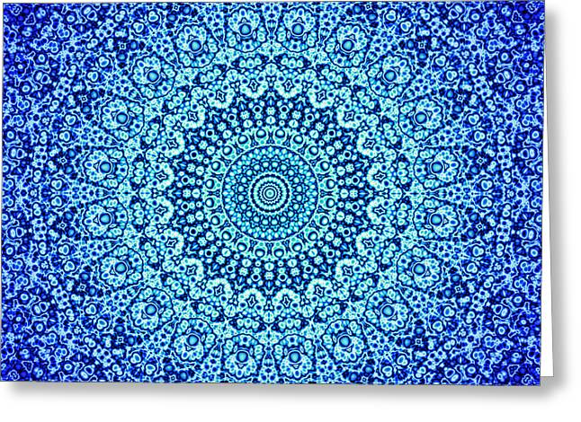Blue Quasicrystal Greeting Card by Dan Gries