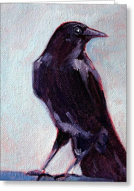 Blue Raven Greeting Card
