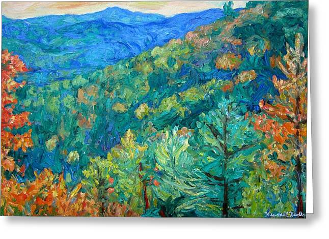 Blue Ridge Autumn Greeting Card