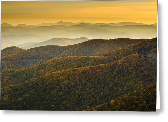 Greeting Card featuring the photograph Blue Ridge Autumn by Serge Skiba