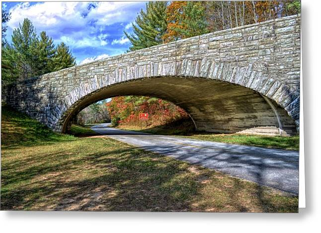 Blue Ridge Bridge Greeting Card by Bob Jackson