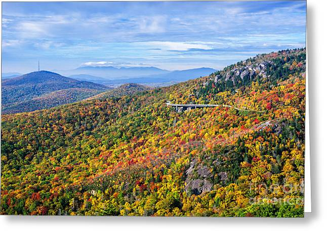 Blue Ridge Colors Greeting Card by Anthony Heflin