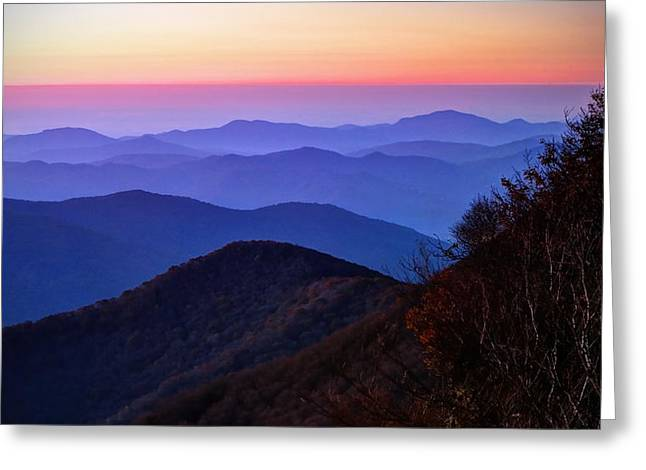 Blue Ridge Dawn Greeting Card by Jaki Miller