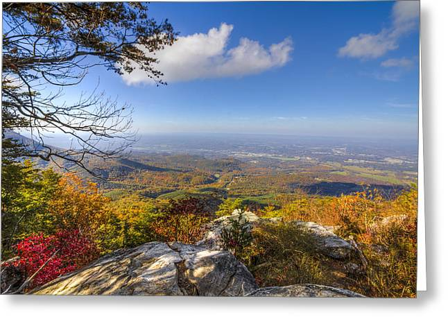 Blue Ridge Greeting Card by Debra and Dave Vanderlaan