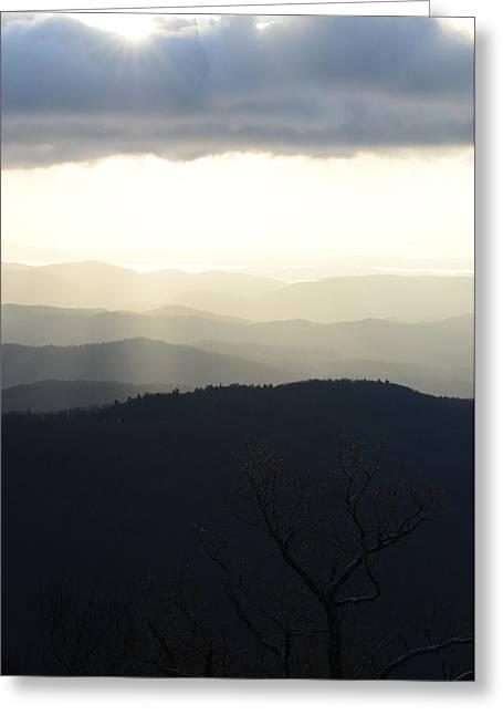 Blue Ridge Mist 2 Greeting Card