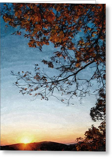 Blue Ridge Mountail Fall Greeting Card